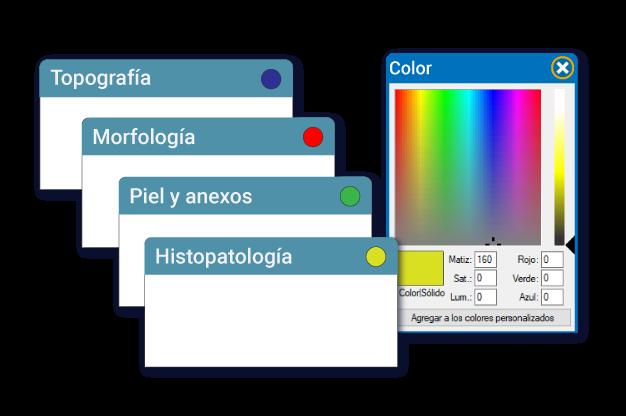 Referencia asociada al color del lienzo
